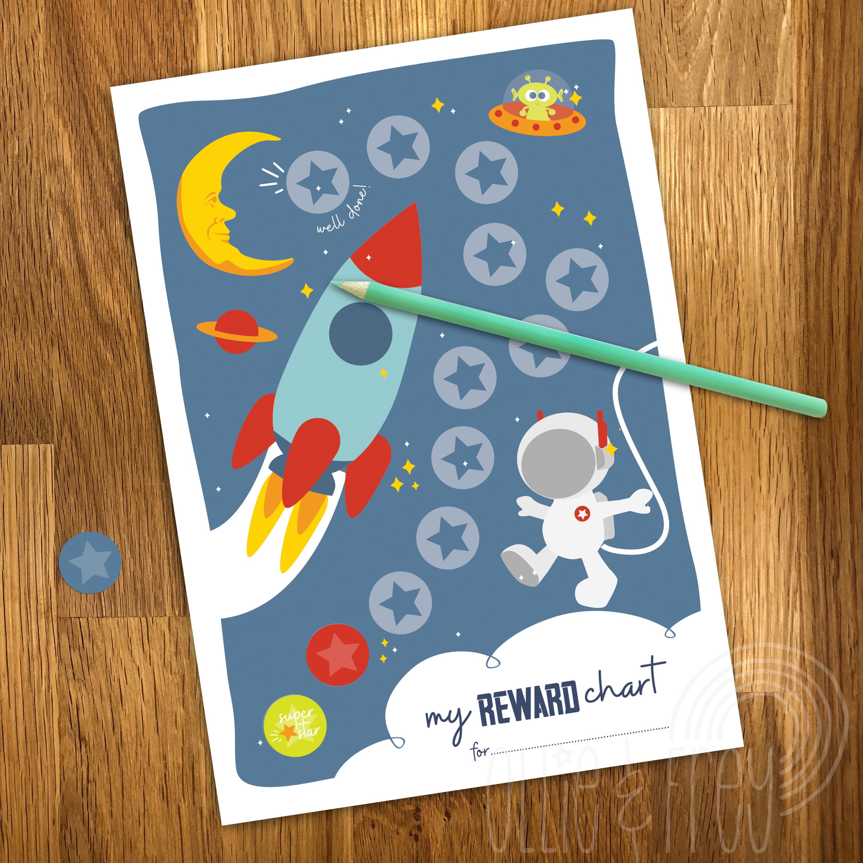 Space Reward Stickers